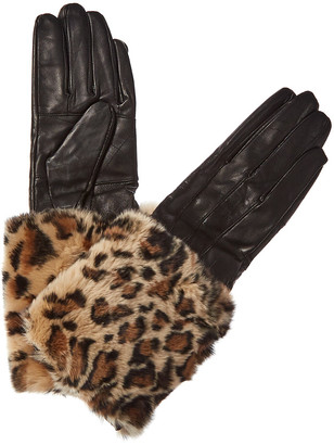Surell Accessories Leather Gloves