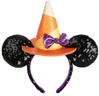 Disney Minnie Mouse Halloween Witch Sequined Ear Headband