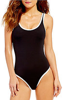 Kenneth Cole Reaction On The Edge High Leg Tank One-Piece