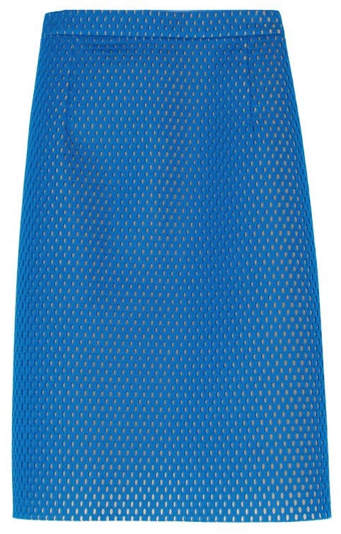 Tibi Techy Mesh Pencil Skirt
