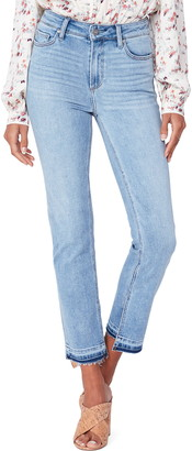 Paige Cindy High Waist Split Release Hem Ankle Straight Leg Jeans