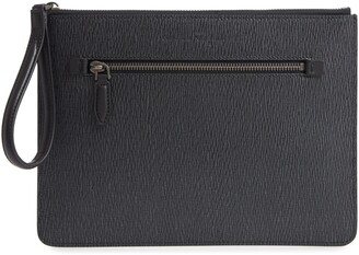 Salvatore Ferragamo Revival 3.0 Leather Zip Pouch