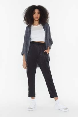 Nasty Gal Womens Satin Moment Jogger Trousers - Black - 6, Black