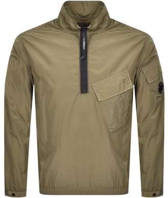C.P. Company Half Zip Overshirt Jacket Green