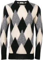 Laneus intarsia knit jumper - men - Polyamide/Alpaca - 48