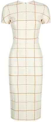 Victoria Beckham Check Midi Dress