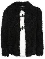 philosophy Women's White/black Leather Outerwear Jacket.