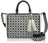 Tory Burch Robinson Zip Small Woven Quilted Satchel