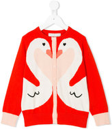 Stella McCartney Lauren Swan cardigan - kids - Cotton/Wool - 2 yrs