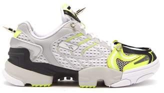 Vetements X Reebok Spike Runner 400 Mesh Trainers - Womens - Yellow White