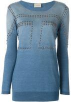 Laneus studded sweatshirt - women - Cotton/Aluminium - 42