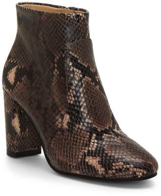 Vince Camuto Sanstan Snake Print Leather Bootie