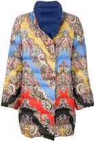 Etro mixed print padded jacket