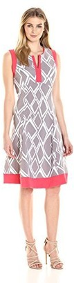 Robbie Bee Women's Missy I Pc Geo Print Dress