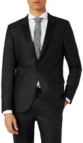 Topman Men's Skinny Fit Liquid Tuxedo Jacket
