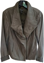 Vince Grey Leather Jacket for Women