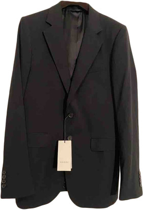 Gucci Black Wool Suits