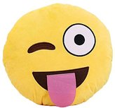 Leegoal Emoji Smiley Emoticon Yellow Round Cushion Pillow Stuffed Plush Toy Doll