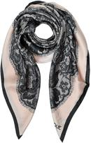 Moschino Boutique Lace Print Silk Square Scarf