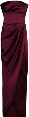 Rasario Bandeau Draped Maxi Dress