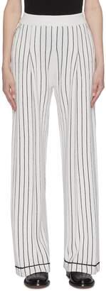 Barrie Stripe cashmere knit pants