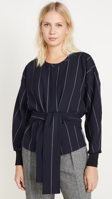3.1 Phillip Lim Long Sleeve Striped Pullover