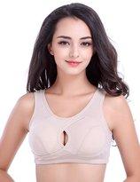 Generic Women High Impact Shockproof Wireless Cotton Sports Underwear Bras (XL, )