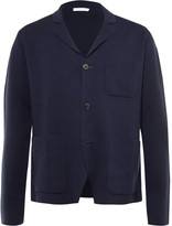 Boglioli Blue Knitted Cotton And Cashmere-Blend Blazer