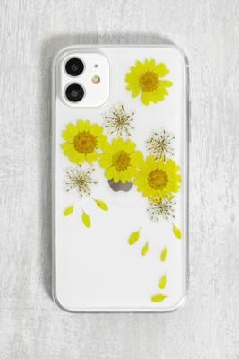 Urban Outfitters Pressed Flowers iPhone 11 Case - Yellow ALL at