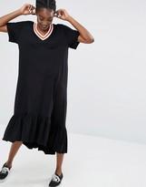 Monki Ruffle Hem T-Shirt Dress
