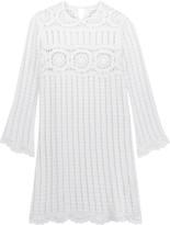 Etoile Isabel Marant Hariett open-knit linen and cotton-blend mini dress