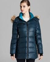 Marc New York Down Coat - Fur Trim Hood