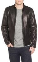 Black Rivet Men's Lambskin Leather Moto Jacket