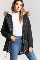 Forever 21 Faux Shearling-Lined Parka