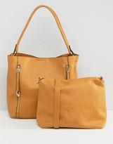 Oasis Hobo Shoulder Bag with Zip Detail
