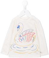 Stella McCartney Swan print long-sleeve T-shirt