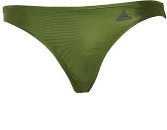 adidas Womens Cheeky Bikini Bottoms Tech Olive/Legend Earth/Linen
