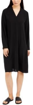 Eileen Fisher Silk V-Neck Dress