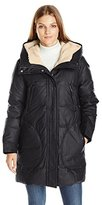 Soia & Kyo Women's Savana Parachute Down Coat Parka with Sherpa Lined Hood