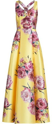 Vera Mont Floral Print Ball Gown
