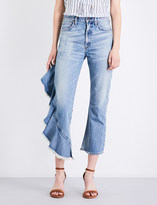 Citizens of Humanity Estella Side Ruffle flared high-rise jeans