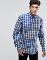 Scotch & Soda Shirt With Navy Check In Regular Fit In Navy