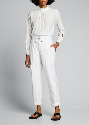 Frame Twisted High-Rise Trousers