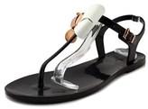 Ted Baker Soami Women Open Toe Synthetic Black Thong Sandal.