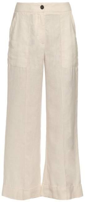 Raquel Allegra Flared Cropped Trousers - Womens - Cream