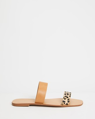 Billini - Women's Brown Flat Sandals - Tate - Size 7 at The Iconic