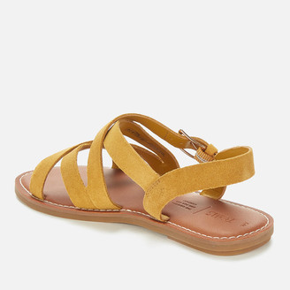 Toms Women's Amber Gold Suede Sicily Sandal