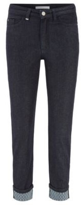 HUGO BOSS Regular-fit cropped jeans in rinse-washed stretch denim
