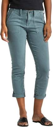 Silver Jeans Utility Crop Mid Rise Slim Pants