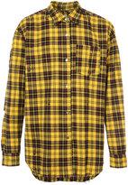 Mastermind Japan distressed plaid shirt